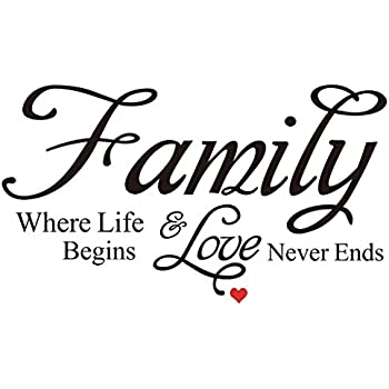 Download Amazon.com: New Elegant Design - Family,Where life begins ...