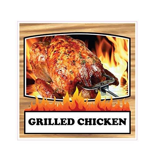Grilled Chicken Concession Restaurant Food Truck Die Cut Vinyl