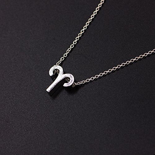 """Cyberny Aries Necklace for Women, 18"""" Silver"""