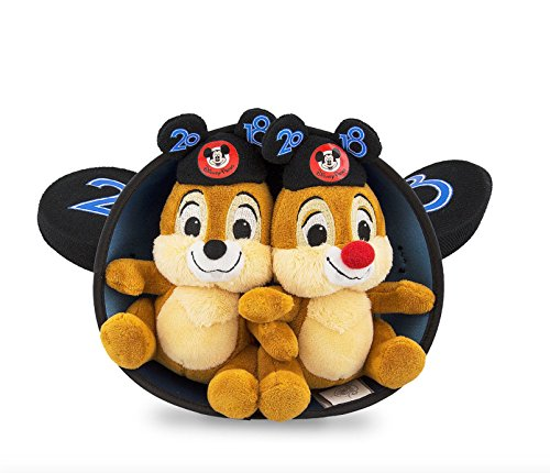 Walt Disney World 2018 Chip and Dale Mickey Mouse Ears Hat and Plush Doll Set - Walt Disney World Ears