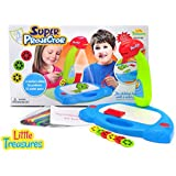 Trace and Draw Projector make learning time fun, 6 Slides, 36 Patterns, 12 water pens, and magnets for your child to get creative a 3 in 1 Play set for Girls and Boys from Little Treasures - ages 3+