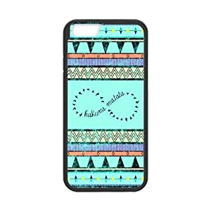 iPhone 6 Protective Case -Aztec Tribal Pattern Hakuna Matata Infinity Hardshell Cell Phone Cover Case for New iPhone 6