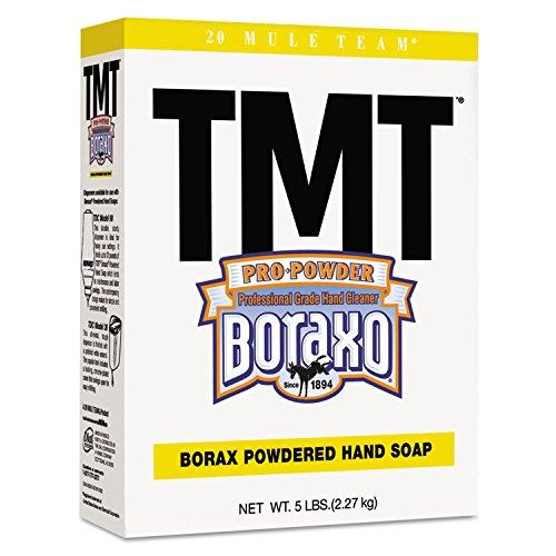 Boraxo 2561 TMT Powdered Hand Soap, Unscented Powder, 5 lb. Box, White (Pack of (Hand Soap Unscented Powder)