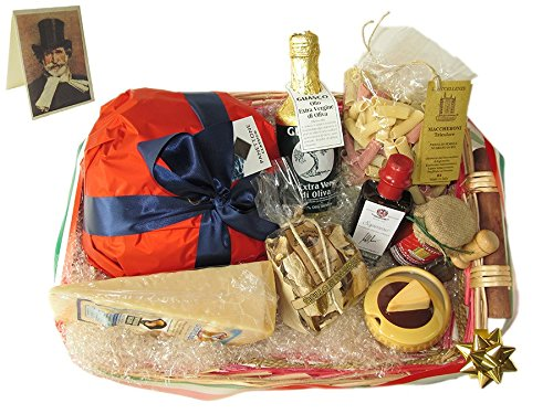 Parma (Italy) Basket of Food Specialities Giuseppe VERDI Italian Christmas Hamper