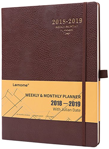 Planner 2018-2019 with Pen Holder -Academic Weekly, Monthly and Yearly Planner. Thick Paper to Achieve Your Goals & Improve Productivity, 8.5'' x 11'', Back Pocket with Julian Date by planner 2018-2019