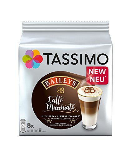 Tassimo Latte Machiatto Baileys Coffee Capsules, Pack of 5