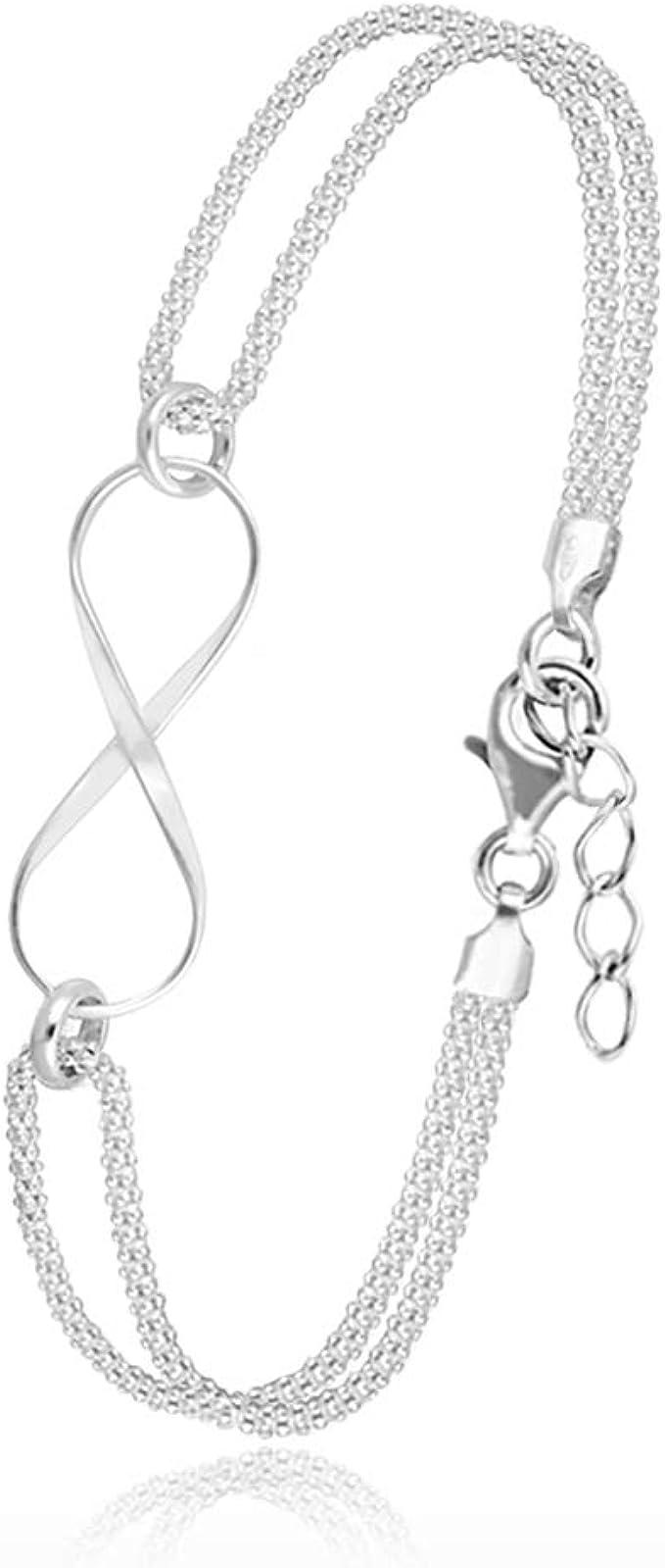 Womens Infinity Bracelet Infinity Charm Bracelet Infinity Bracelet For Women White Cord Bracelet Silver Bracelet Women Corded Bracelets Gift