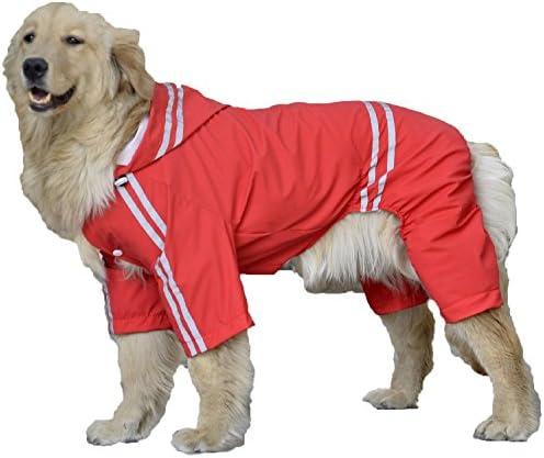 (willmatch) 大型犬 中型犬 犬 用 レインコート レインポンチョ a203 (レッド, 6XL)