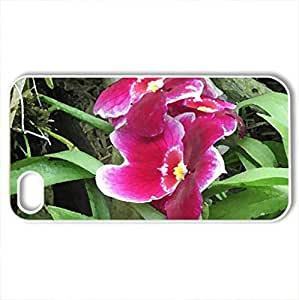 The beauty of flowers - Case Cover for iPhone 4 and 4s (Flowers Series, Watercolor style, White)
