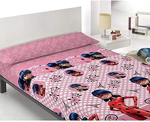 Zag Juego de sábanas Infantil Lady Bug - 100% Algodón - Color Rosa - Cama 105 cm: Amazon.es: Hogar