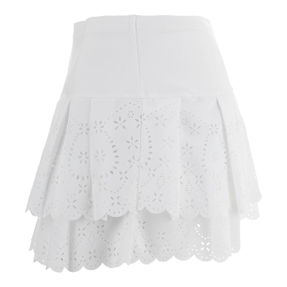 Lucky in Love Laser Pleat Tier Skirt-Medium-White by Lucky In Love (Image #4)