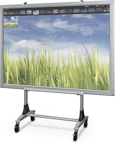 Balt Genius Mobile Dry Erase Whiteboard Stand, Interactive Projector Whiteboard Stand, 56402