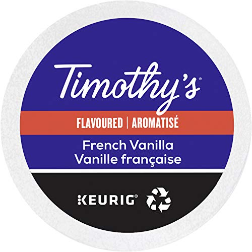 - Timothy's World Coffee, French Vanilla,  K-Cup Portion Pack for Keurig K-Cup Brewers, 24-Count (Pack of 2)