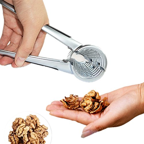 Quick Nut Cracker- Pecan, Walnuts, Hazelnut Nutcracker Aluminum Alloy Sheller Nut Opener Kitchen Plier with Non-Slip Handle