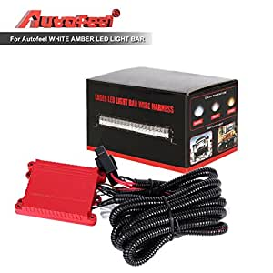 off road atv jeep led light bar wiring harness amazon.com: led light bar wiring harness,autofeel wiring ...