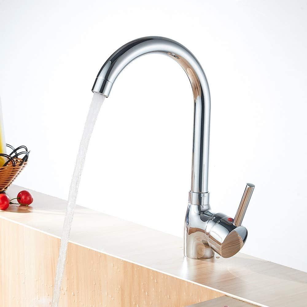 argent Heable /à levier unique Bec pivotant Cuisine moderne /évier robinet m/élangeur de lavabo Avec fixations Standard britannique