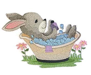 Naturaleza tejida en hilos, increíble bebé animal Reino [Woodland Bath Time – Bunny]