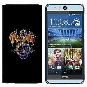 YiPhone /// Prima de resorte delgada de la cubierta del caso de Shell Armor - Flying Dragon criatura mítica del bosque de cuento de hadas - HTC Desire Eye M910x