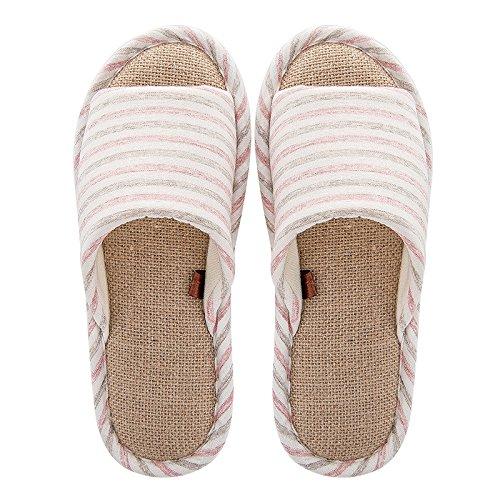 YMFIE Zapatillas de Verano Amantes Ladies Home Dormitorio Zapatillas Light Pink
