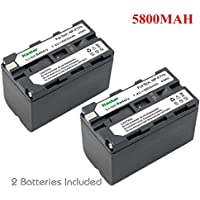 Kastar Battery (2-Pack) for Sony NP-F770, NP-F750, NP-F730 work with Sony CCD-SC5, DCR-TRV820, CCD-SC55, DCR-TRV820K, CCD-SC65, CCD-TRV815, DCR-TRV9, CCD-TR3, DCR-TRV900, CCD-TR3000, CCD-TRV85, DCR-VX200, CCD-TR3300, CCD-TRV86PK, DCR-VX2100, CCD-TR516, DCR-VX2100E, CCD-TR555, CCD-TRV88, DCR-VX700, CCD-TR67, CCD-TRV90, DSC-D700, CCD-TR716, CCD-TRV91, DSR-PD170, CCD-TR76, CCD-TRV93, HDR-FX1, CCD-TR818, CCD-TRV95, HVR-Z1U, HXR-MC2000U, NEX-EA50UH, NEX-FS700U, GV-D700, FDR-AX1