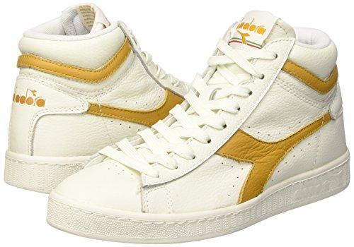 À beige bianco Mixte L Pompes Farro Adulte Plate Plateforme Game High Waxed Diadora Bianco T47w7