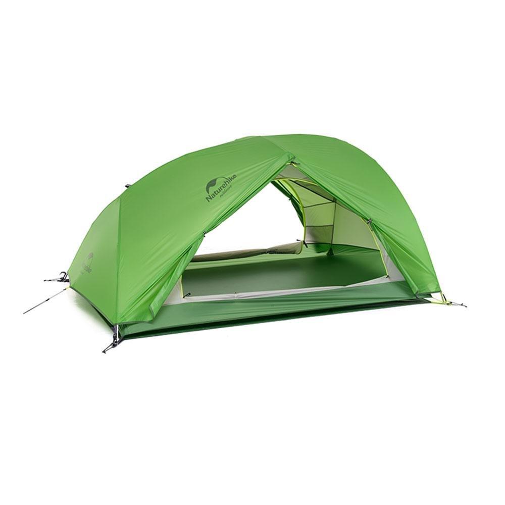 Camping Campingplatz Ultra-light Personen Aluminiumstäbe Doppelschicht Anti-Regenwasserzelt, 2 Personen Ultra-light 16c960