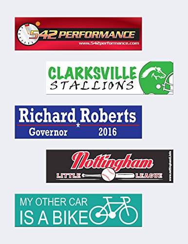 3 x 11 5 custom bumper stickers upload your design