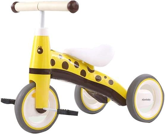 Fenfen-cz Antiguo Triciclo del bebé 1-3-5 años de los niños de la Bicicleta con la música for niños y niñas Bicicleta de Equilibrio (Color : Yellow): Amazon.es: Hogar