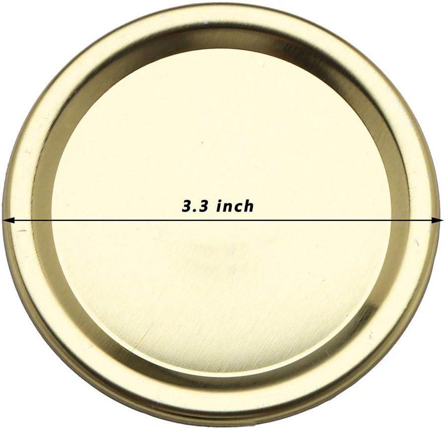 Reusable Split-type Lids Leak Proof And Secure Canning Jar Caps For Kitchens Homes Restaurants Copper Mason Jar Lids Regular /& Wide Mouth Canning Lid And Bands