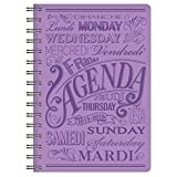 Pierre Belvedere 2015-2016 Chalk Wire-O Weekly Academic Planner, Lilac (7707710)