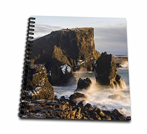 3dRose Danita Delimont - Coastlines - North Atlantic coast during winter near Reykjanesviti. Iceland - Memory Book 12 x 12 inch (db_257679_2) Atlantic Coastline Memories