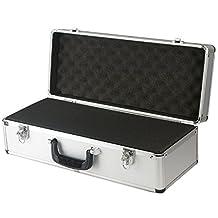 SRA Cases EN-AC-FG-C401 Silver Aluminum Hard Case for Camera, Guns, Electronics, 21.7 X 8.6 X 7-Inch