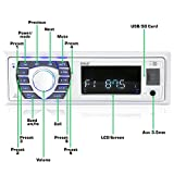 Marine Receiver & Speaker Kit - in-Dash LCD Digital Stereo Built-in Bluetooth & Microphone w/AM FM Radio System 5.25'' Waterproof Speakers (2) MP3/USB/SD Readers & Remote Control - Pyle PLMRKT36WT