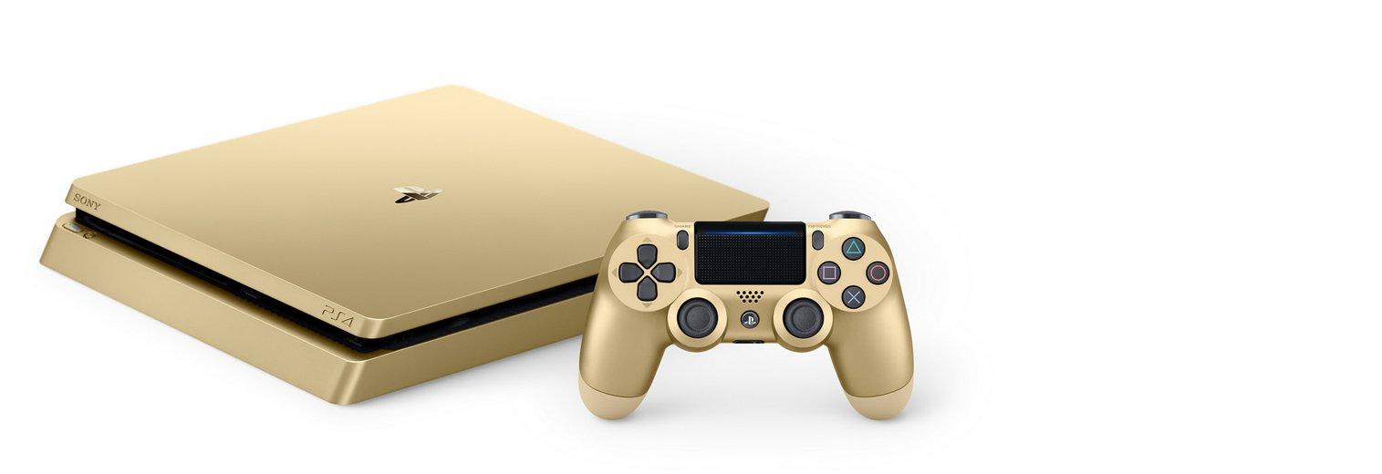 galleon playstation 4 slim 1tb gold console. Black Bedroom Furniture Sets. Home Design Ideas
