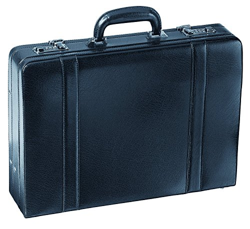 4 Inch Expandable Leather Attache - Mancini 4