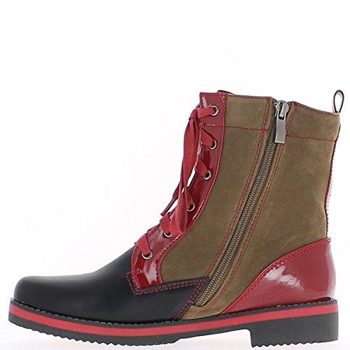 Negro botas de tacón de 3cm de encaje de Rod de encaje.