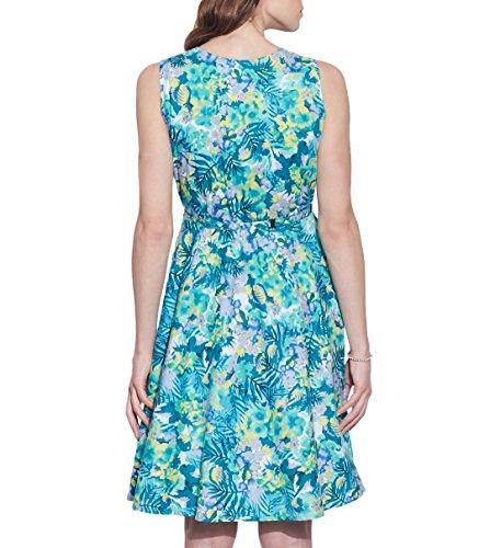 Vêtements pour femmes Robe en coton imprimé, lavable en machine, W-CPD46-1619, Taille-46 pouces