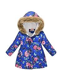 Toddler Snowsuit Winter Puffer Warm Down Coat Thicken Hoodie Outwear Lightweight Windproof Jacket