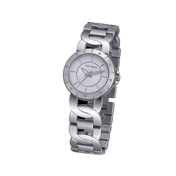 Time Force Reloj Analógico para Mujer de Cuarzo con Correa en Acero Inoxidable TF4000L02M: Amazon.es: Relojes