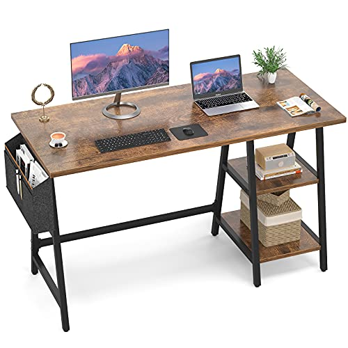 Armocity Computer Desk 47 Inch Desk with Reversible Storage Shelf Large Writing Study Table with Storage Bag for Home…