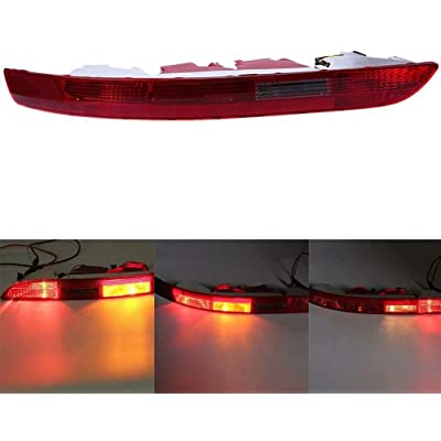 Left Lower Bumper Red Reverse Tail Light Fog Lamp Fit for 2006 2007 2008 2009 2010 2011 2012 2012 2013 2014 2015 2016 Audi Q5 2.0T - 8R0945096 Fit for European version Only: Automotive