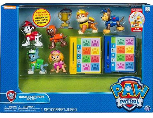 Flip Set (Paw Patrol 6 Pack Back Flip Pups Gift Set from Spin Master)