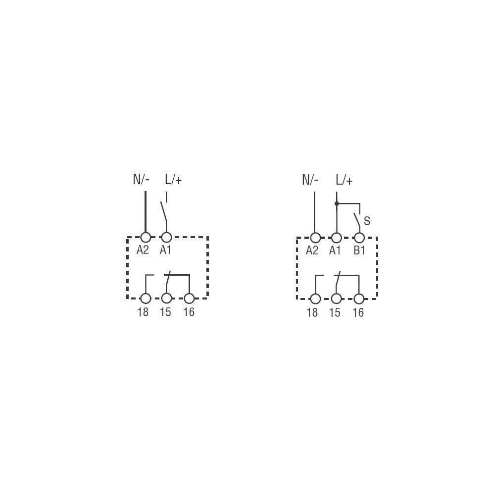 Finder Serie 80/ /Delay Timer multitensi/ón Verbindung 240/VAC//DC