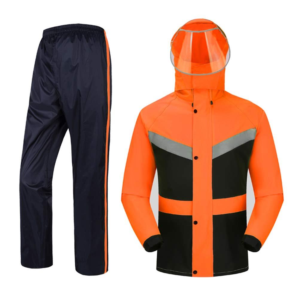 Orangenoir XXL GONGYU Un imperméable imperméable, Un Pantalon de Costume, Un Costume imperméable pour Homme et Une Femme Adulte chevauchant Une Veste imperméable Fendue Contre la tempête