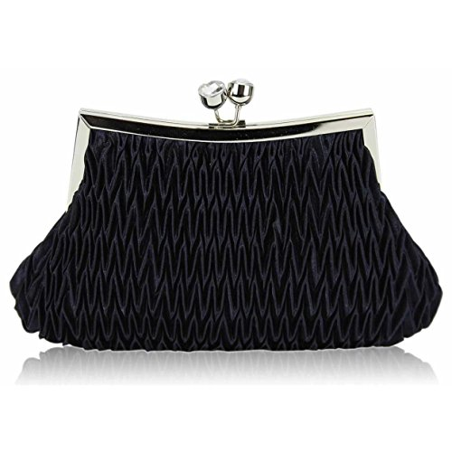 LOCK Women's Bags Prom Bridal's NAVY LeahWard For TWIST Cocktail Party Wedding Clutch CLUTCH Purse 93 OdZqTTFx