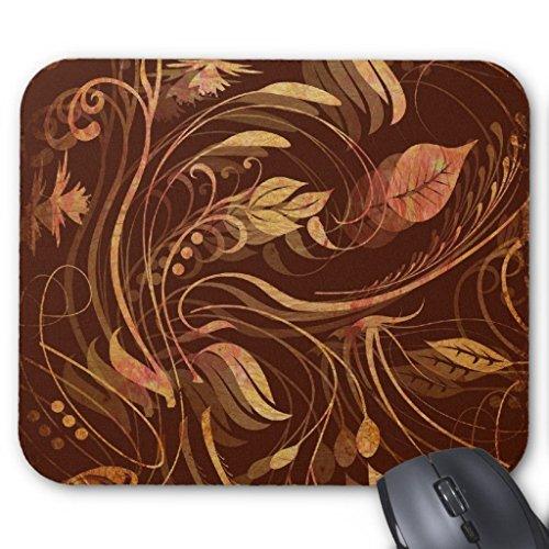 Foliage Batik - Elegant Fall Batik Print Foliage Mouse Pad