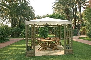 cenador pergola madera jardin de lujo - Cenadores De Jardin