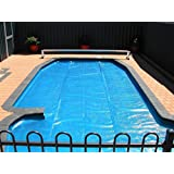 Pool Central Rectangular Heat Wave Solar Blanket Swimming Pool Cover, 12' x 24' , Blue