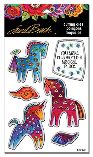 Stampendous LBDCS07 Laurel Burch Magical Horses Die Cut -
