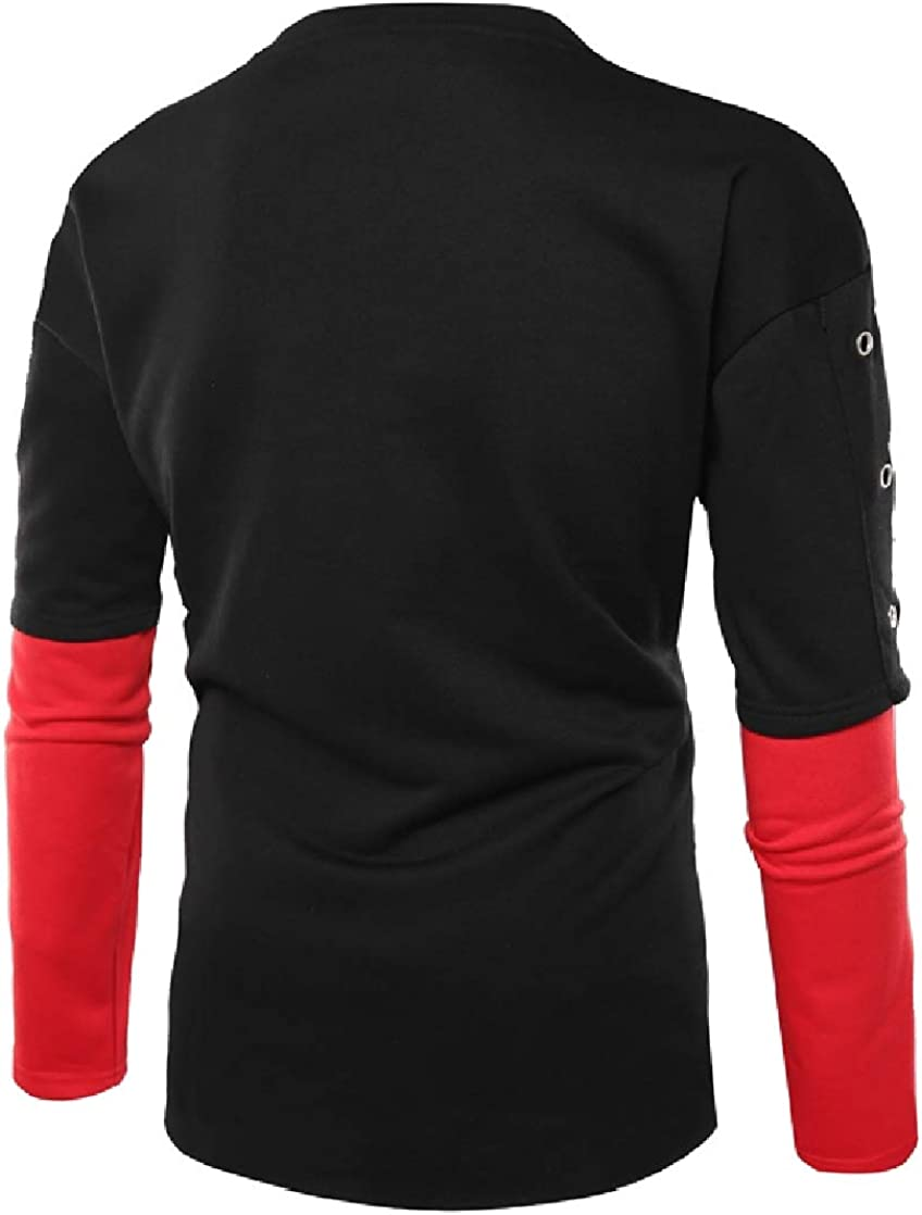 CrazyDay Mens Hollow O Neck Long Sleeve Assorted Colors T-Shirts Pullover Sweatshirts